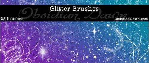 Glitter + Sparkles Brushes for Photoshop