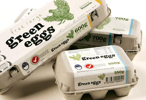 Green Eggs package design