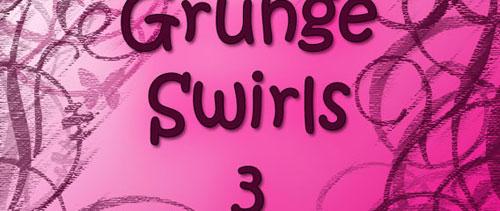 Grunge Swirl Brushes 3 for Photoshop