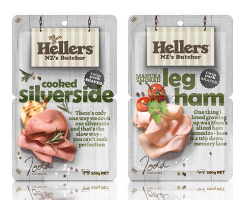 Hellers package design