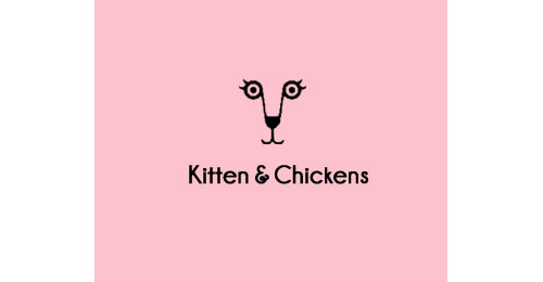 Kitten and Chickens logo