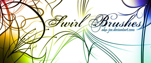 10 High Resolution Swirl Brushes for Photoshop