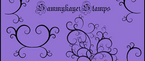 Gothic Swirl Brushes for Photoshop