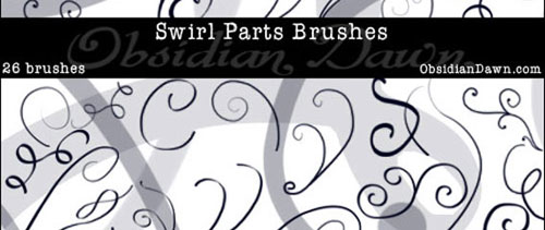 Swirl Parts Brushes for Photoshop