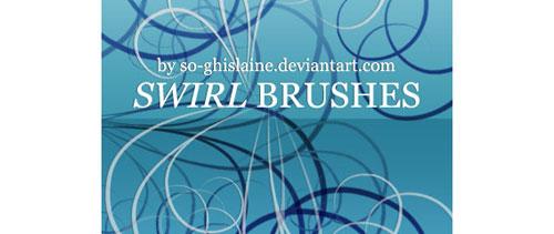 Swirl brushes 2 for Photoshop