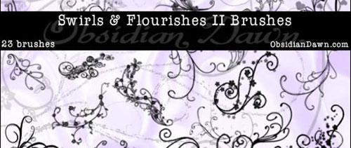 Swirls – Flourishes II Brushes for Photoshop