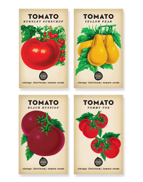 The Little Veggie Patch Co package design
