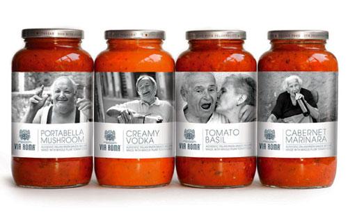 Via Roma package design