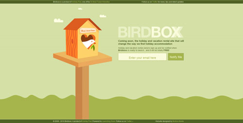 birdboxx.com launching soon page design