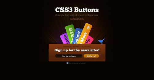 css3buttons.com launching soon page design