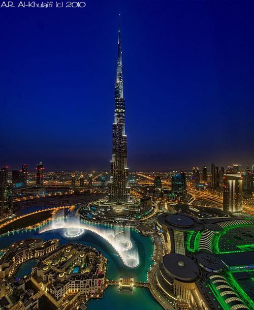 Summer Nights Burj Dubai photography