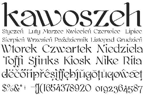 Download kawoszeh free font