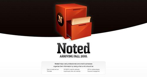 notedwiki.com launching soon page design