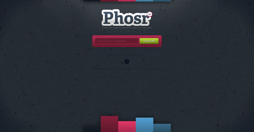phosr.com launching soon page design