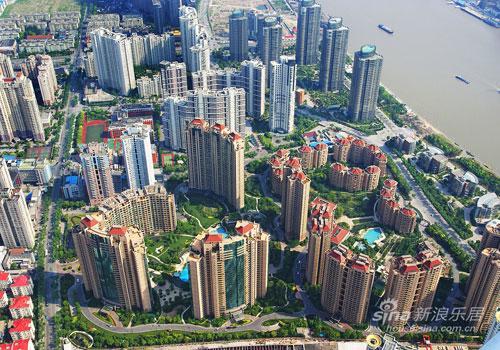 Shanghai buildings complex photography
