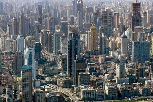 Shanghai buildings complex 2 photography