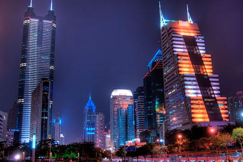 Shenzhen City Central (Shun Hing Square : Diwang Tower, on left) photography