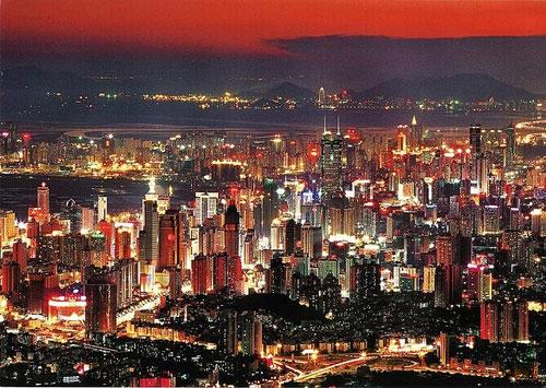 night piece of shenzhen photography