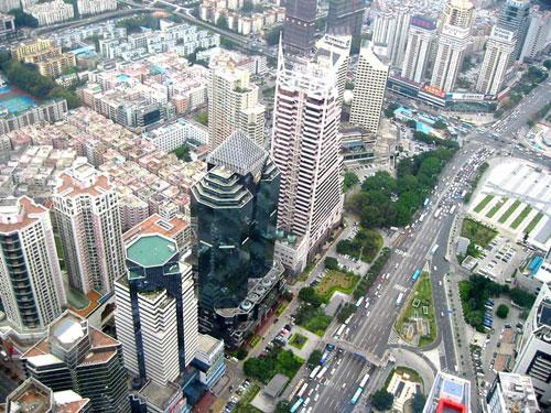 Bank, Hospital and Library building, Stock Exchange, Bank of China, Shenzhen, China photography