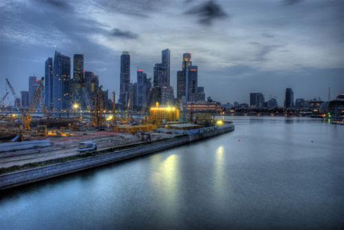 SINGAPORE skyline photography