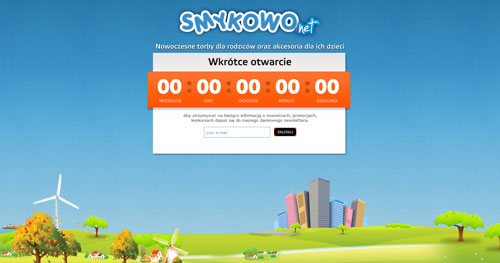 smykowo.net launching soon page design