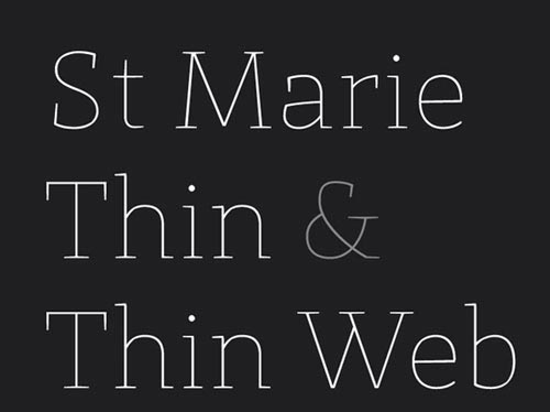 Download St Marie free font