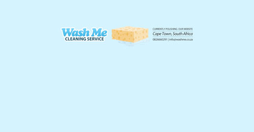 washme.co.za launching soon page design