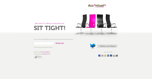 accentuate.eu launching soon page design