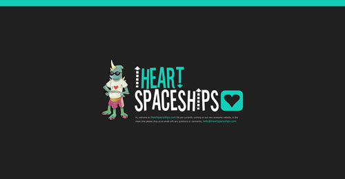 iheartspaceships.com launching soon page design
