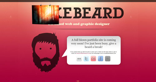 lukesbeard.com launching soon page design