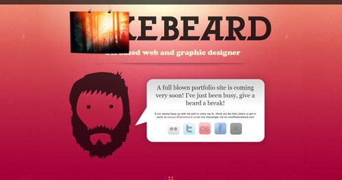 lukesbeard.com launching soon page design