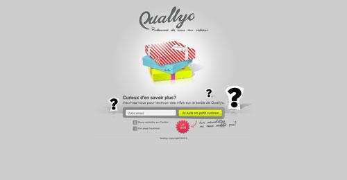 quallyo.com launching soon page design