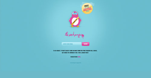 thepinkpenguin.net launching soon page design