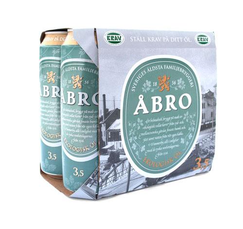 Abro Organic Lager Aluminum Based Package Design
