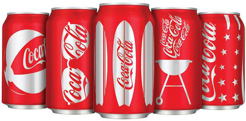 Coca Cola Summer Cans Aluminum Based Package Design