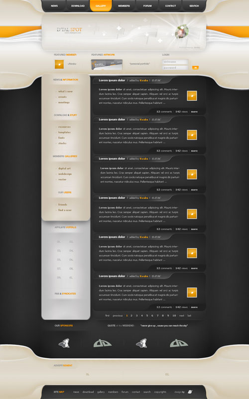 38 Sites With Interesting CSS And Flash Menu Designs 26