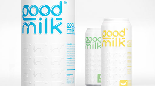 Good Milk Aluminum Based Package Design