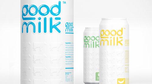 Good Milk Aluminum Based Package Design