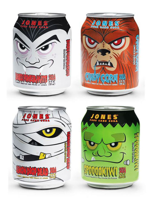 Jones Soda Halloween Edition Aluminum Based Package Design