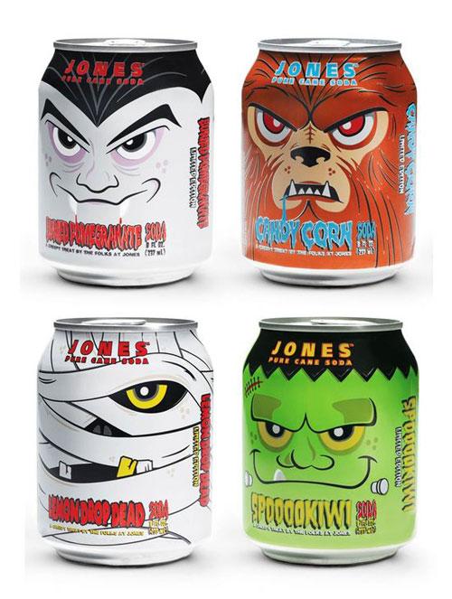 Jones Soda Halloween Edition Aluminum Based Package Design