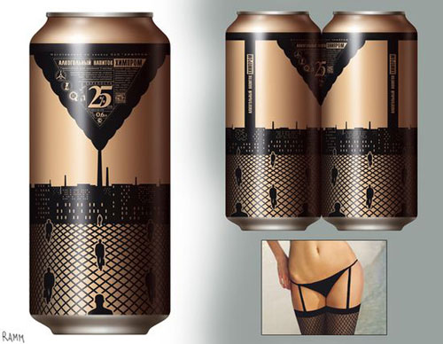 Lingerie Beer Cans Aluminum Based Package Design
