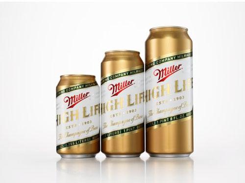Miller High Life Aluminum Based Package Design