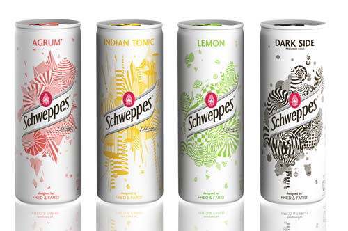 Schweppes Limited Edition Slim Cans Aluminum Based Package Design