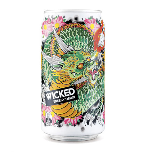Wicked Energy Drink Edition Aluminum Based Package Design
