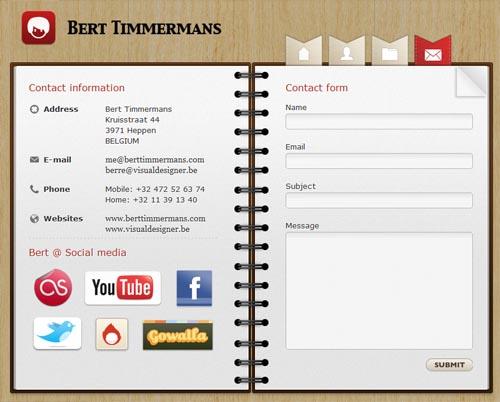 berttimmermans.com form design