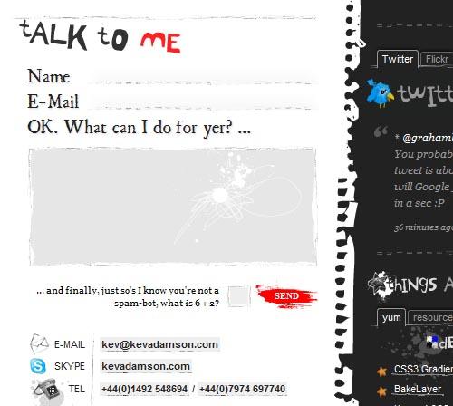 kevadamson.com form design