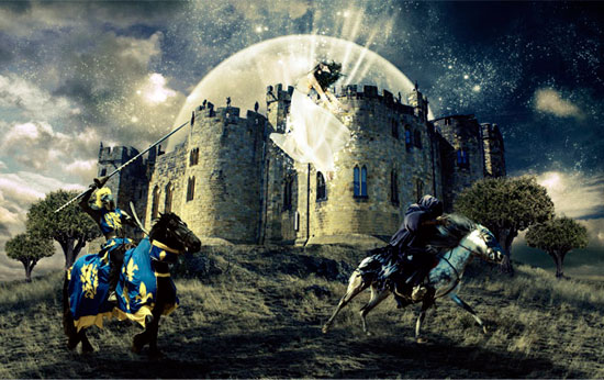 Create Epic Battle Field Photoshop