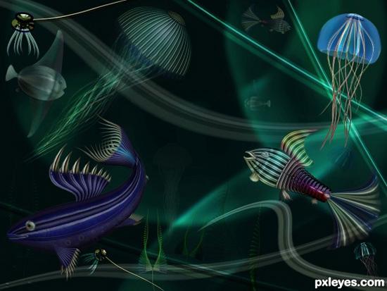 Create a Colorful Deep Water Scene