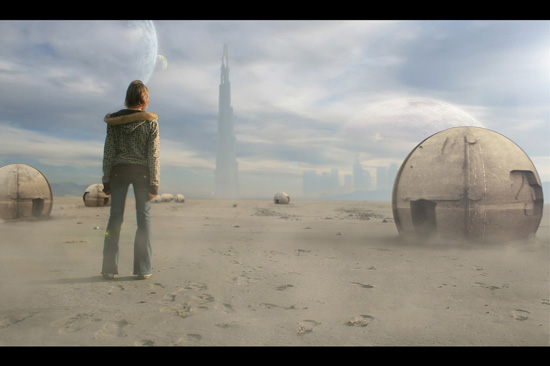 Planet X Matte Painting in Photoshop