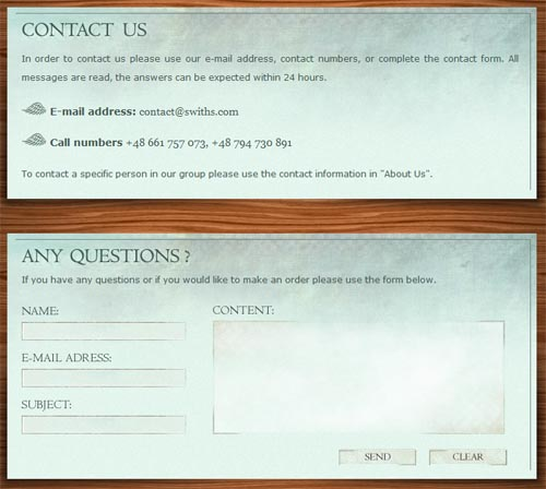 swiths.com form design